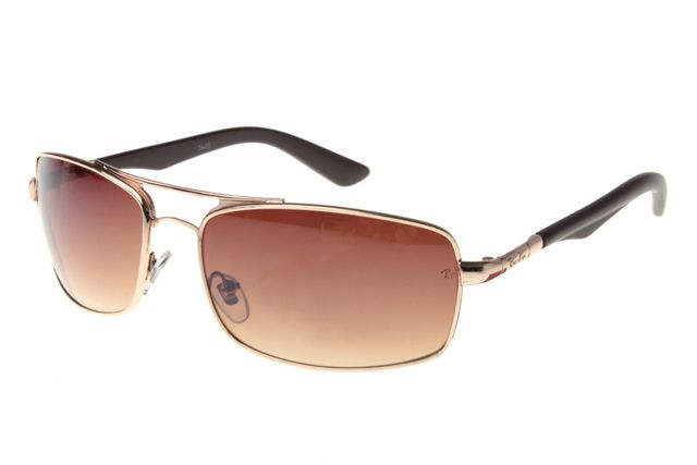 Ray Ban Active Lifestyle RB3460 Sunglasses Glod/Black Frame Tawny Lens