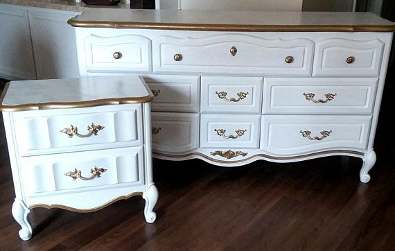 White Dresser Amp Nightstand Bedroom Set French Provincial