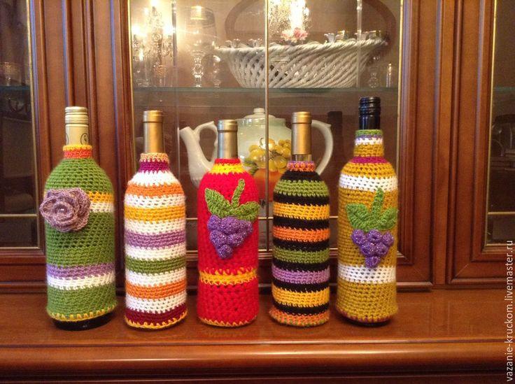 Купить Декоративные чехлы для винных бутылок 0,75л - современный стиль, подарок девушке