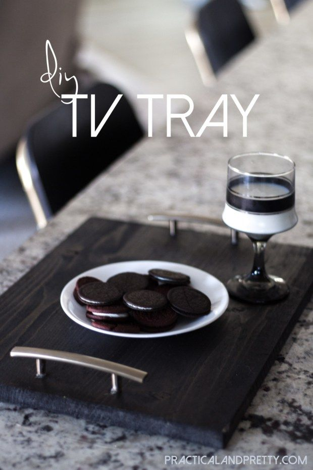 This super simple DIY TV tray makes a great homemade gift for mom.