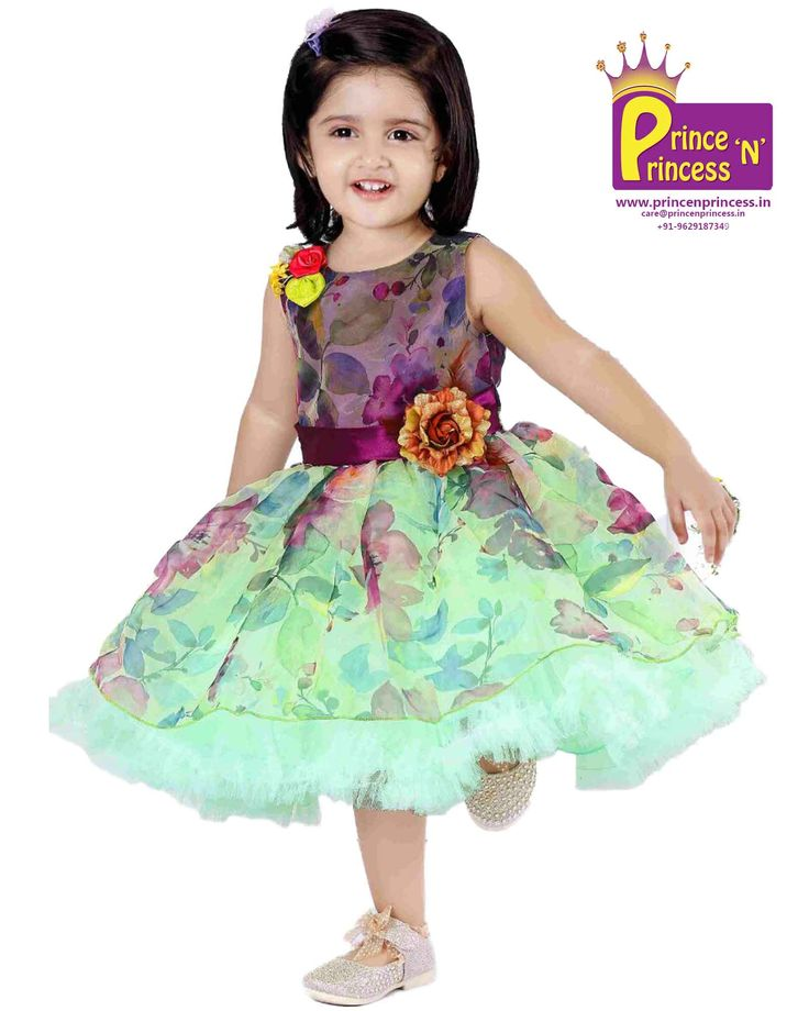 Kids grand party frock new born first birthday