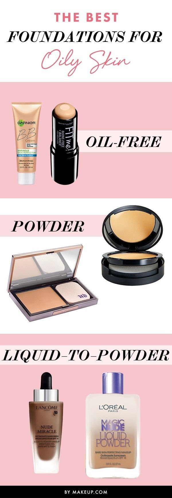 Oily skin is hard to control. We have a few makeup products that will de-shine your skin. See what fits for you!