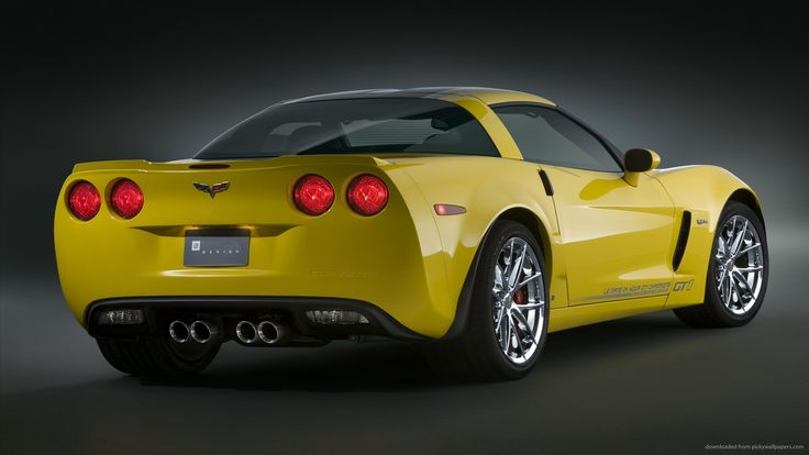 Download Chevrolet Yellow Corvette Cars wallpaper 267805