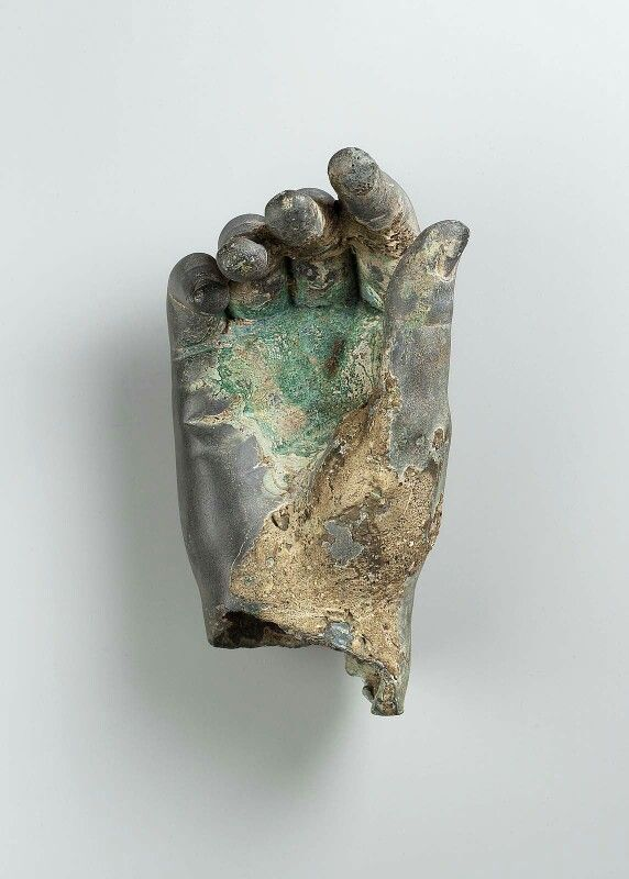 Bronze right hand (side A). Greek or Roman. Hellenistic or Imperial Period. | Museum of Fine Arts, Boston
