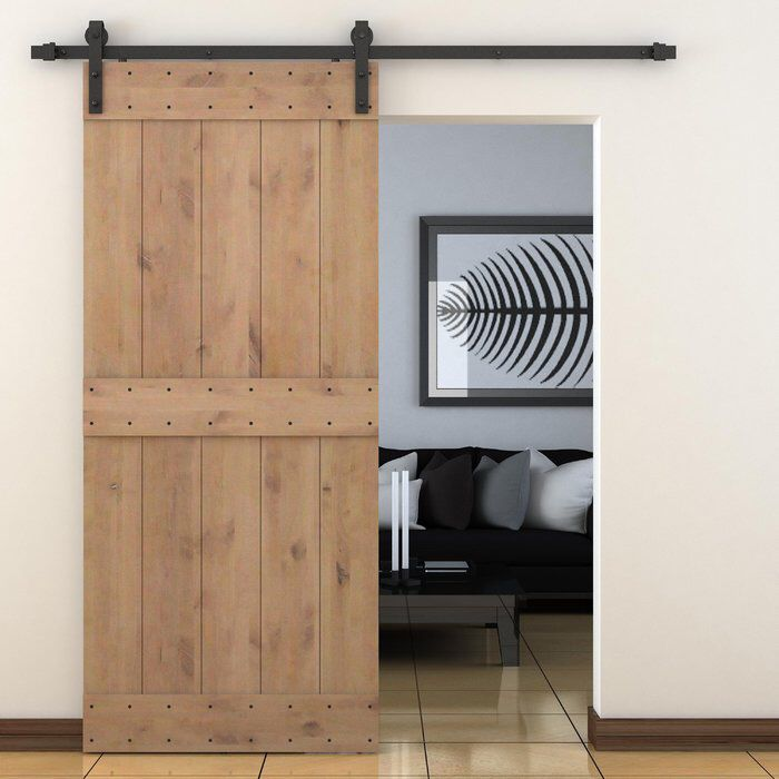 Paneled Wood Primed Alder Barn Door Without Installation Hardware Kit With Images Wood Doors Interior Doors Interior Barn Doors Sliding