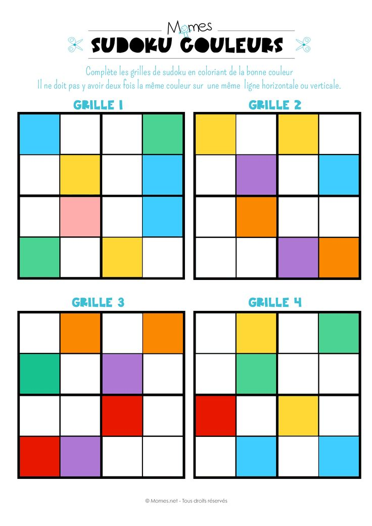Sudoku des couleurs