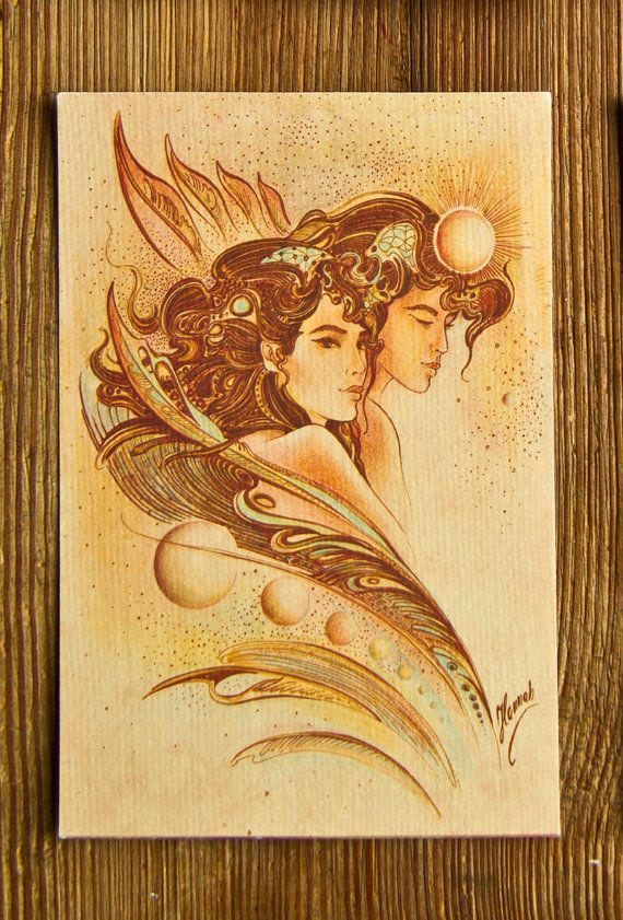 """THE GEMINI"" - Protective Angel for Zodiac Sign"