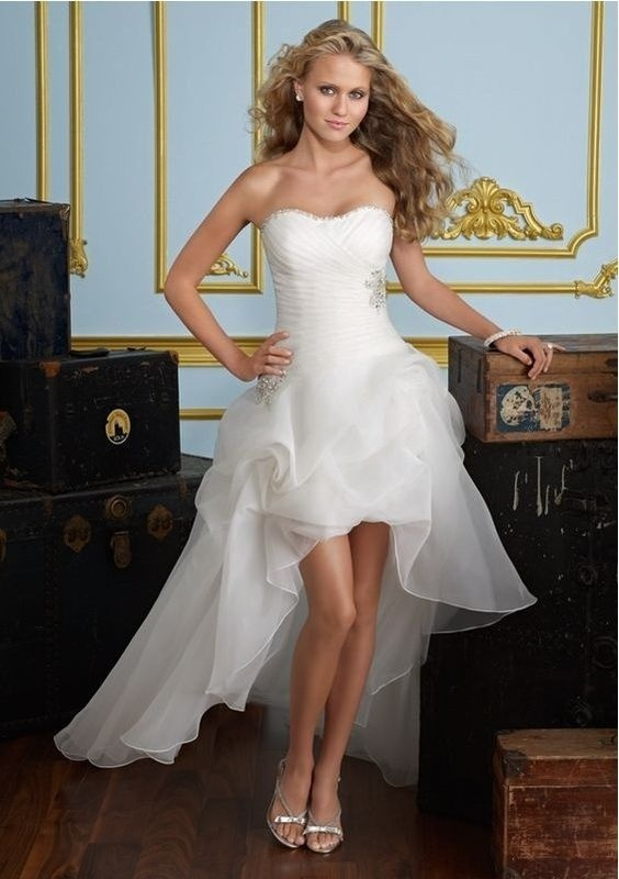 To renew our vows I would love to wear this dress with my pink cowboys boots....hubby's a cowboy!