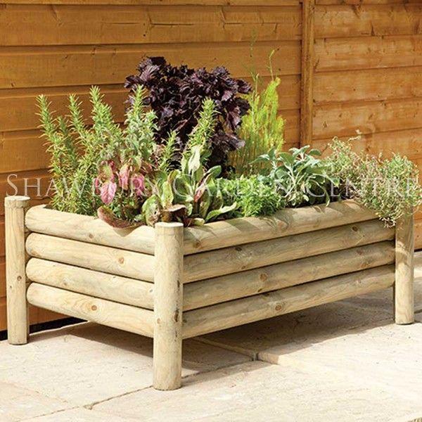más de 25 bellas ideas sobre plantadores de madera en pinterest