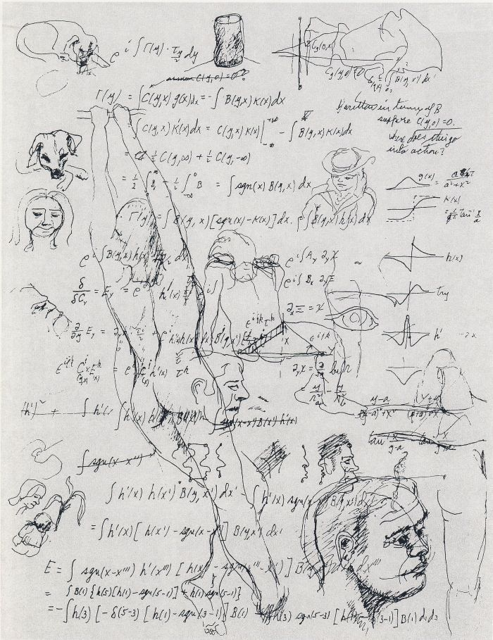 Equations and Sketches (1985) Richard Feynman