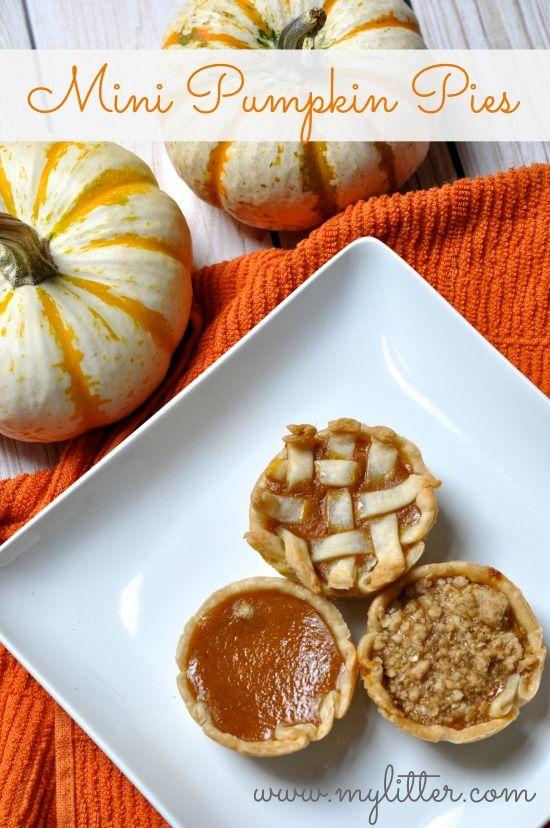 Mini Pumpkin Pies - #pumpkinpie #dessert #foodporn #Dan330 http://livedan330.com/2014/11/05/mini-pumpkin-pies/