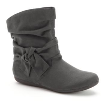 "SO Slouch Ankle Boots w/ bow - Women At Kohl's  Customer reviews say "" comfortable, wear all day""."