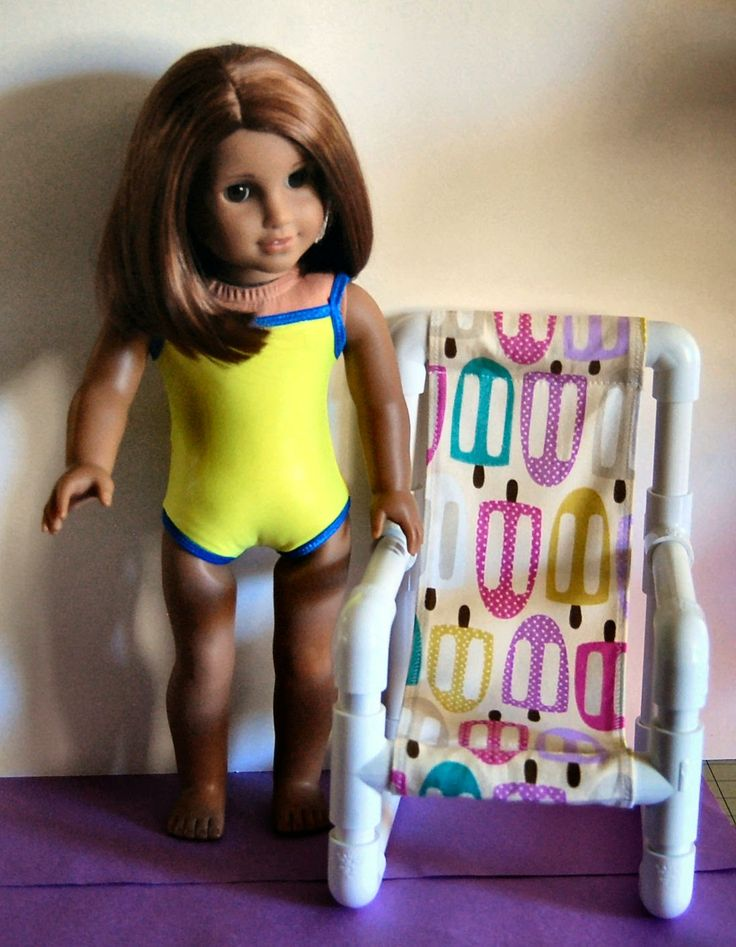 """PVC Sling Chair Frame Pictorial     for 18"""" (AG) Dolls     by..."""