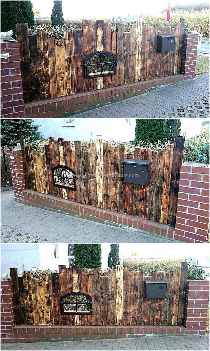 wood pallet garden fence wall