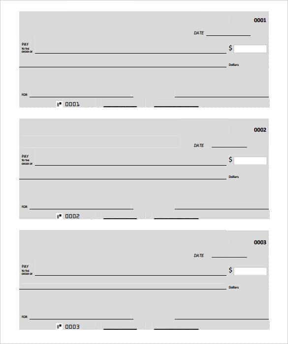 Free Download General Blank Checks PDF Download