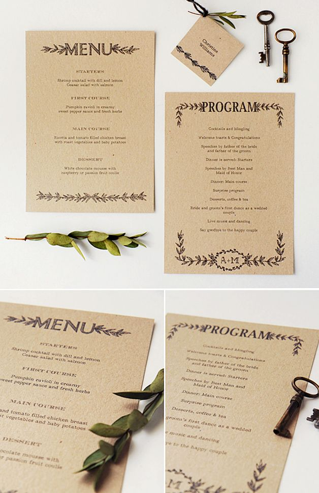 Free printable rustic wedding invitation suite & stationery | Best Day Ever