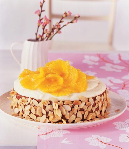 Mandelkuchen mit Orangen und Vanille
