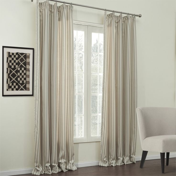 Jacquard Stripe Classic Cotton Linen Blend Eco-friendly Curtain  #curtains #stripe #modern #cotton #custommade #homedecor #decor