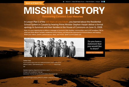 Missing History- Residential Schools in Canada