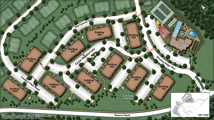 Rivington by Toll Brothers - The Mews Collection Site Plan