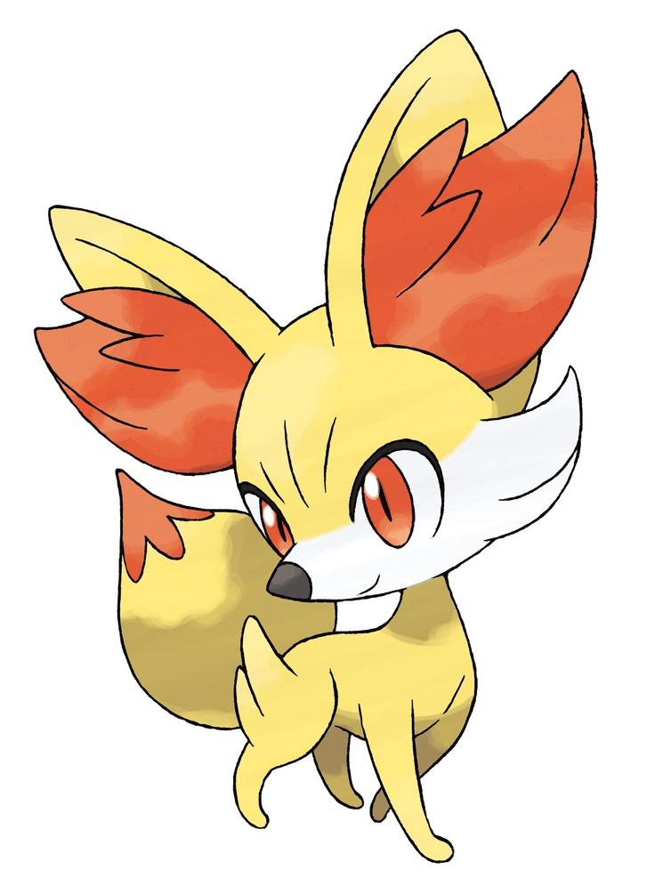 Pokemon X and Y Fire-type starter Fennekin | Fire type ...