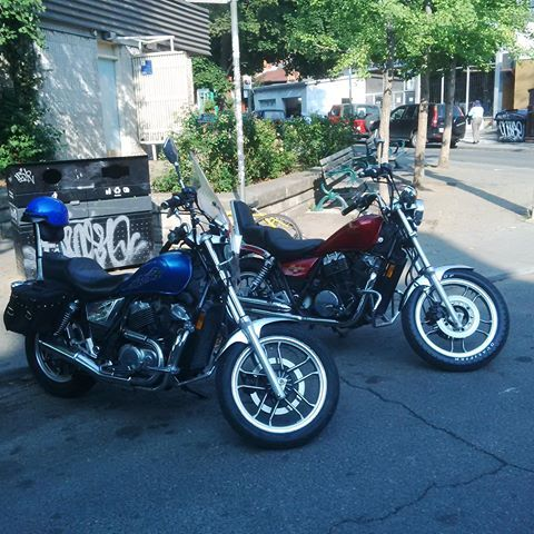 1983 Honda Shadow VT500c - Blue. For Sale $1200 includes accessories.