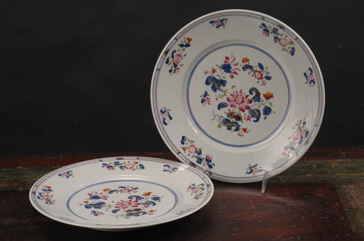 Puiforcat, Limoges Raynaud, Chen Yang Dinner Plates (Grey Ground), Set of 2 by dinaandpartners on Etsy