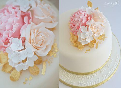 Golden Wedding Anniversary Cake | Flickr - Photo Sharing!