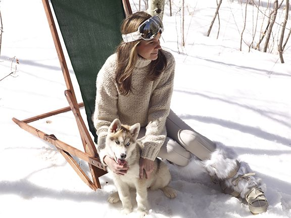 Aerin Lauder in Aspen- follow us www.helmetbandits.com like it, love it, pin it, share it!