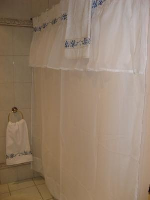Cortina de baño en tela