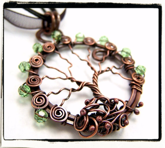Just Listed! Antique Copper Faerie Green Crystal Tree of by FashionWire, $39.99