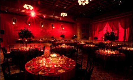 creating the red intimate mood
