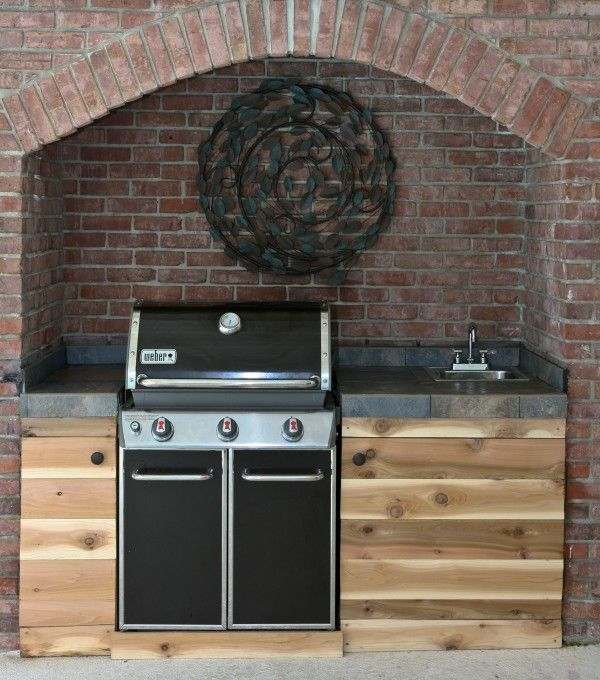 Outdoor Weber Genesis Grill Via Miss In The Kitchen Grill Station Pinterest Built Ins