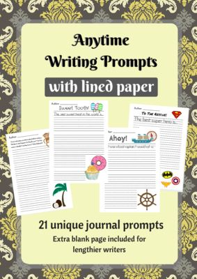writing prompts lined paper
