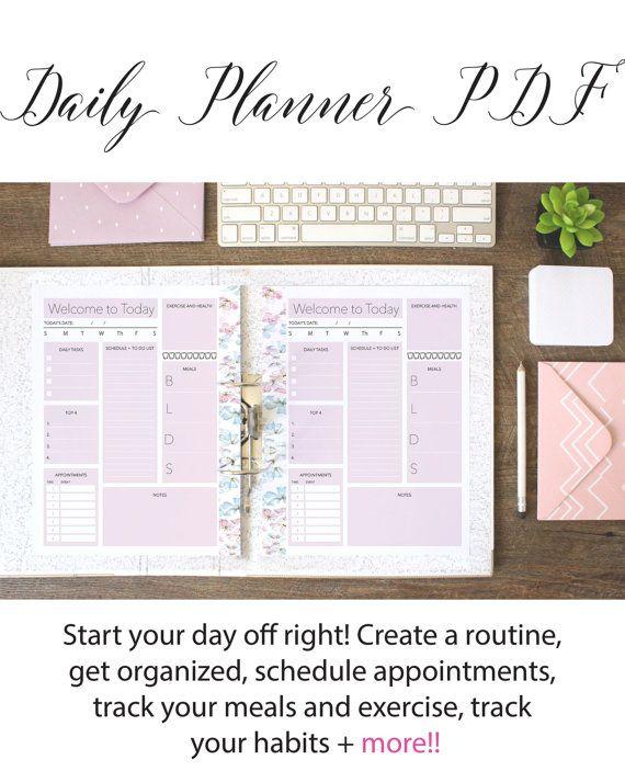 quotidiana planner giornaliero organizzatore di Designsbybiancab