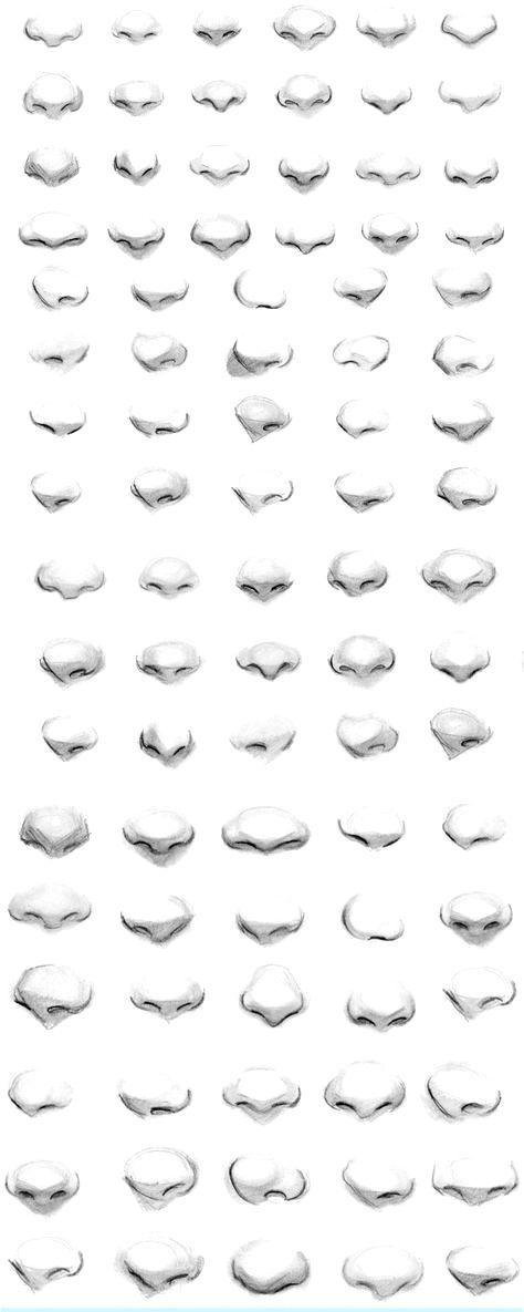 Zeichnungen, Manga, Anime, Nasen, 69 Designs, zur Verbesserung Ihrer Zeichnung. #Inte Anna Raphaela Röhrs