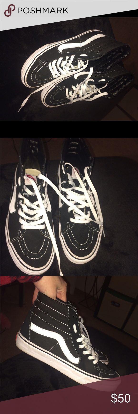 Skate highs vans Worn once only- excellent condition Vans Shoes Sneakers