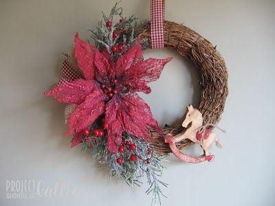 Project Gallias: Faszynowy wianek z konikiem,  Christmas wreath