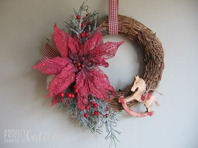 Project Gallias: Faszynowy wianek z konikiem,  Christmas wreath