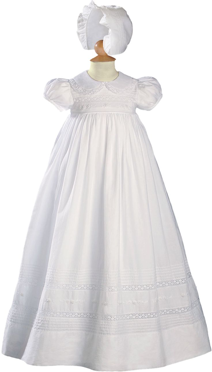 Floral Embroidered Handmade Cotton 33 Quot Christening Gown