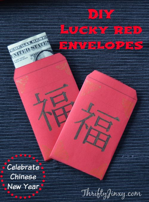 diy lucky red envelopes celebrating chinese new year holiday