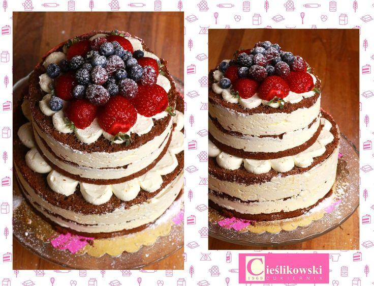 Naked cake. Tort z cukierni A. Cieślikowski/