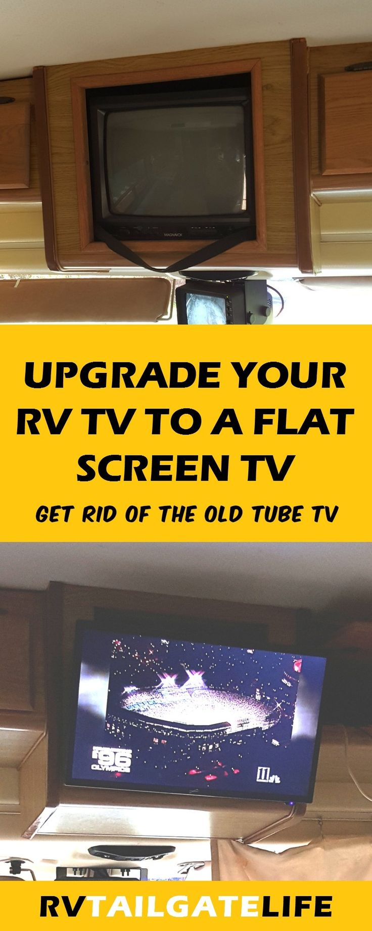 Upgrade your RV TV with a new digital flatscreen TV! #RVmods