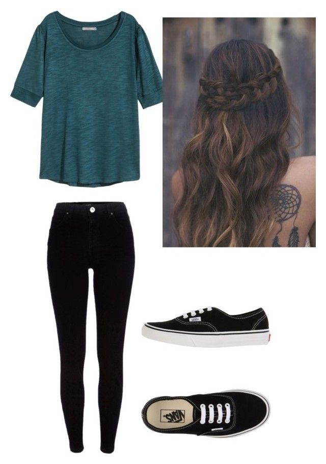 """Rm"" by laurrao on Polyvore featuring River Island, H&M and Vans"