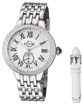 GV2 Gv2: Astor Women's Silver Watch With Interchangeable Strap.