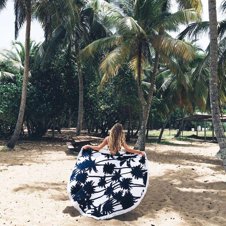 DIY serviette de plage ronde - Marie Claire