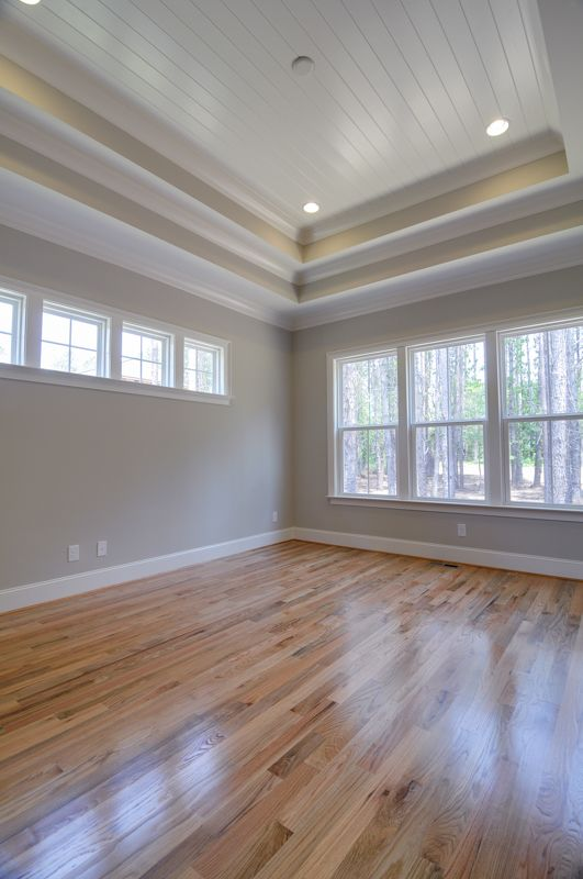 Tray Ceiling, Master Ceiling, Master Bedroom, Natural Hardwoods.