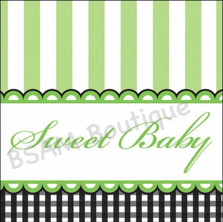 Sweet Baby Feet Small Beverage Napkins