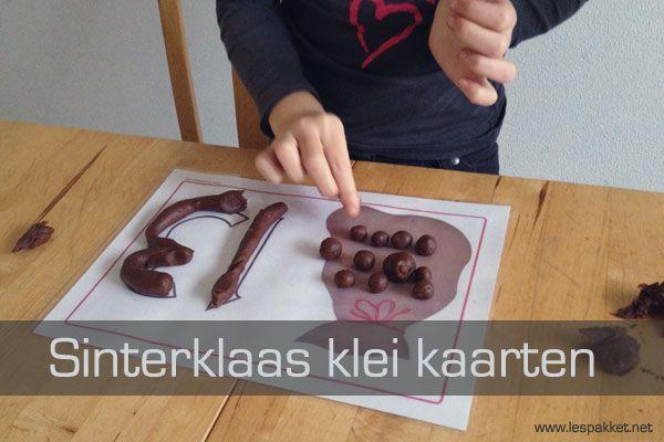 Zelf klei maken: Sinterklaas klei kaarten