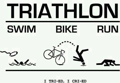 Triathlon- What I expect first time through. haha
